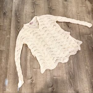 Calypso St Barth Cashmere Crochet Sweater Sz Small